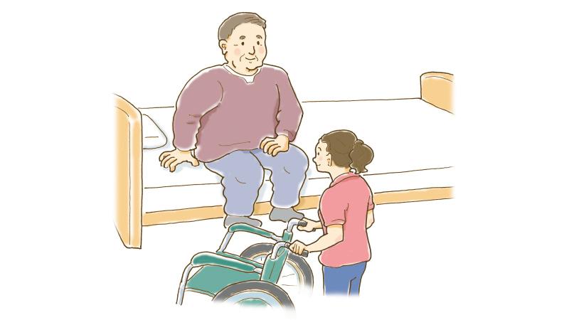 大きな人の移動・移乗【3】車椅子の移乗
