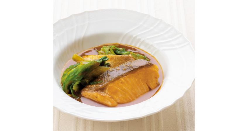 【鮭レシピ】鮭とレタスのカレー煮