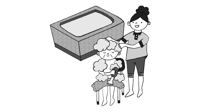 Cさん(88歳/要介護2)の入浴介助手順書【前編】