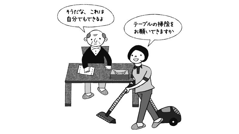 【生活援助】田中さん(81歳/要介護2)へのサービス提供記録の事例