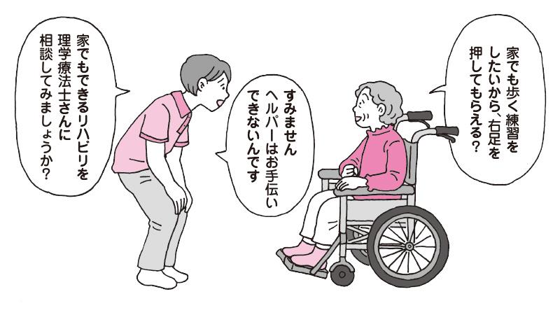 【事例】麻痺側の足を押して手助けしてもいいですか?