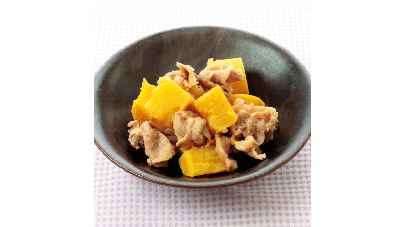 【豚こま肉レシピ】豚肉とさつまいものバターしょうゆ煮
