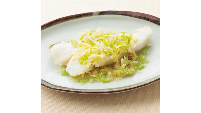 【鱈の切り身レシピ】鱈とねぎの中華蒸し