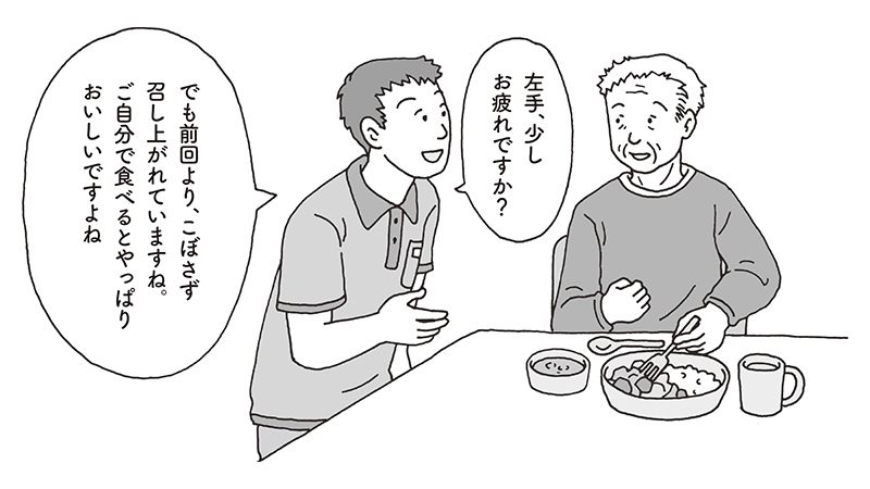 【事例】一部介助の利用者から頼まれた食事の全介助