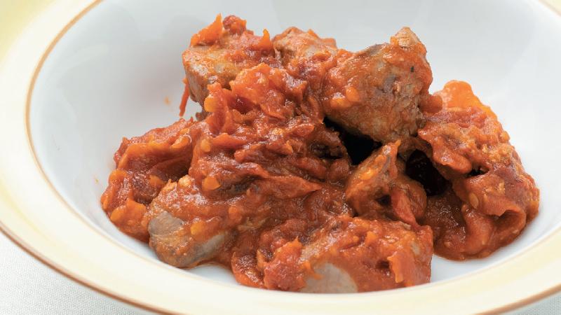 【貧血】鶏レバーのトマト煮