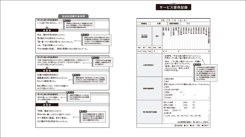 訪問介護の書類の書き方<サービス提供記録>