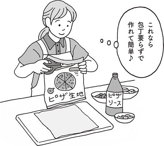 【事例】市販のピザ生地を使って、調理支援をしてもいい?