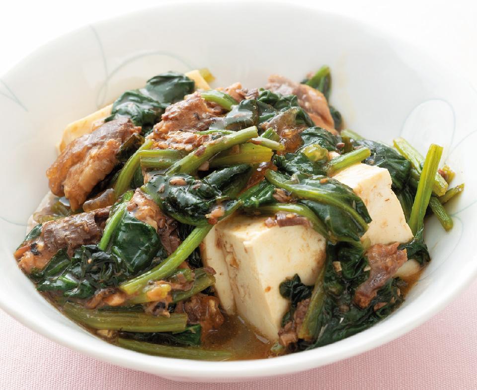 【高齢者が食べやすい時短レシピ】ほうれん草とイワシのあんかけ豆腐