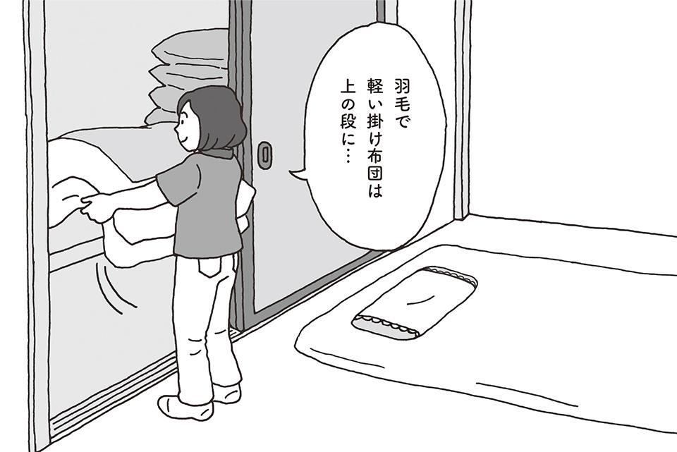 【事例】「毎回、布団を押し入れに出し入れしてほしい」。対応してもよい?